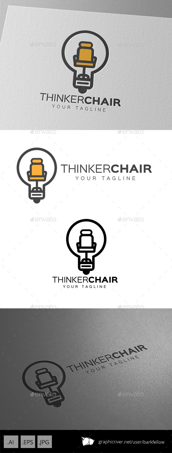 Smart Thinker Chair Logo - Symbols Logo Templates