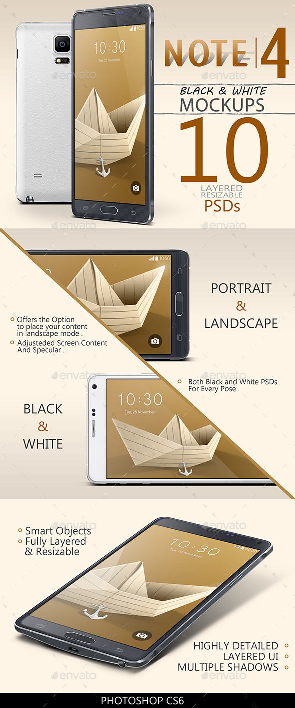 Note 4 Mock-Ups - Mobile Displays