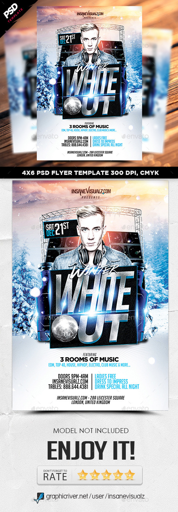 Winter White Out Flyer - Flyers Print Templates