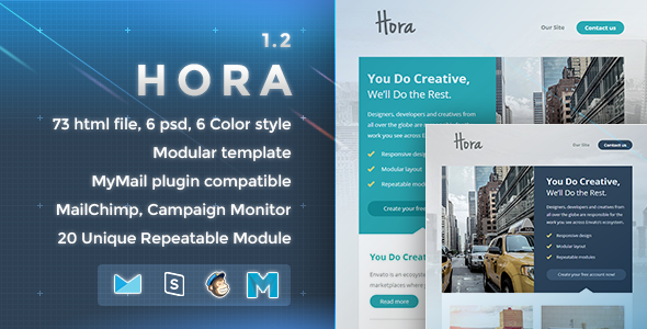 Hora – Responsive Email Template