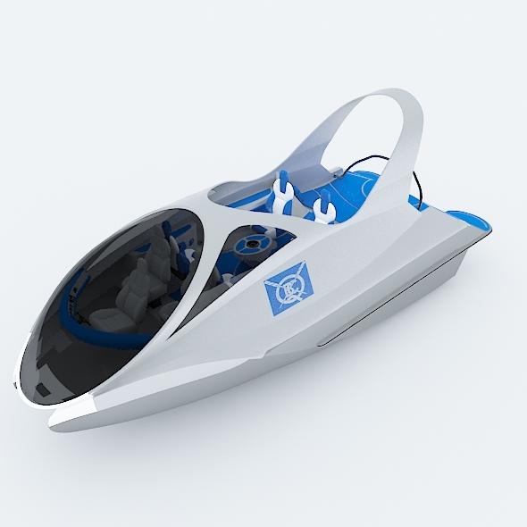Unique Speed Boat - 3DOcean Item for Sale