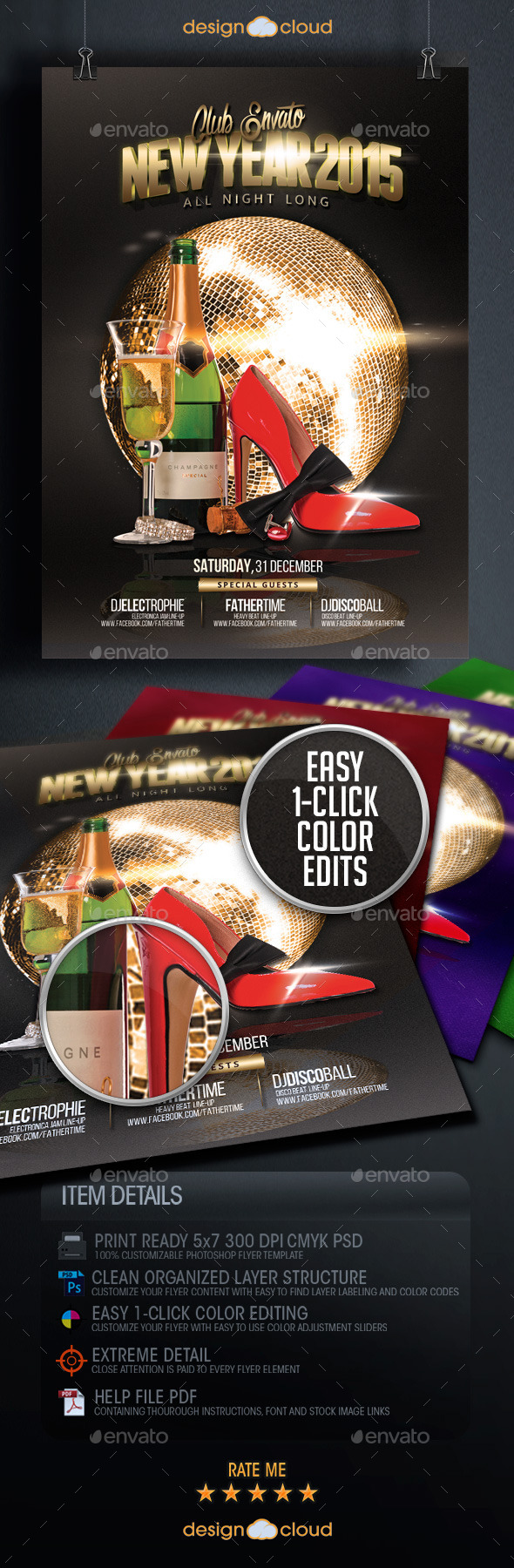 New Year's Event Flyer Template Vol. 2 - Holidays Events