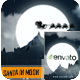 Santa in Moon - VideoHive Item for Sale