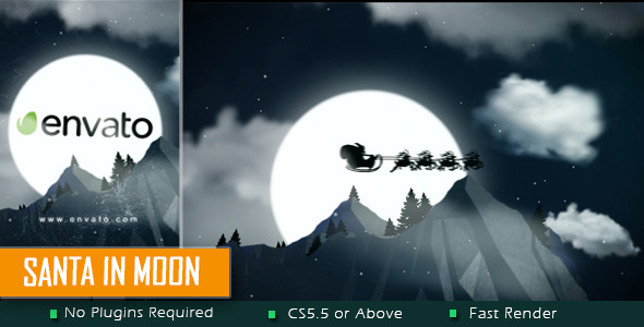 Santa in Moon