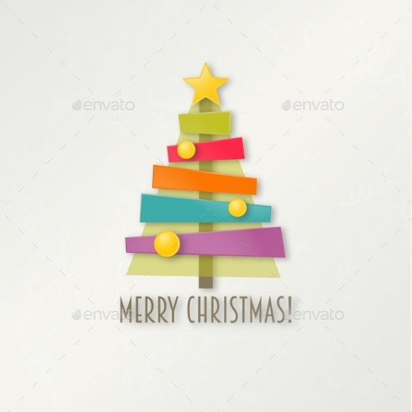 Abstract Colorful Christmas Tree - Christmas Seasons/Holidays