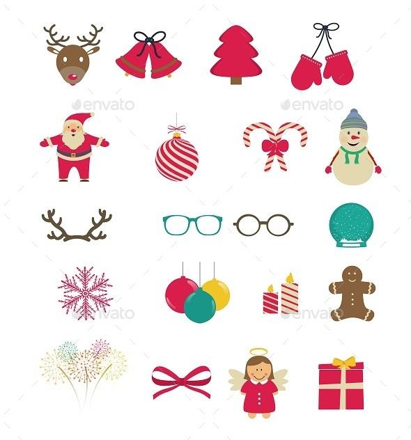 Set of Christmas Icons - Christmas Seasons/Holidays