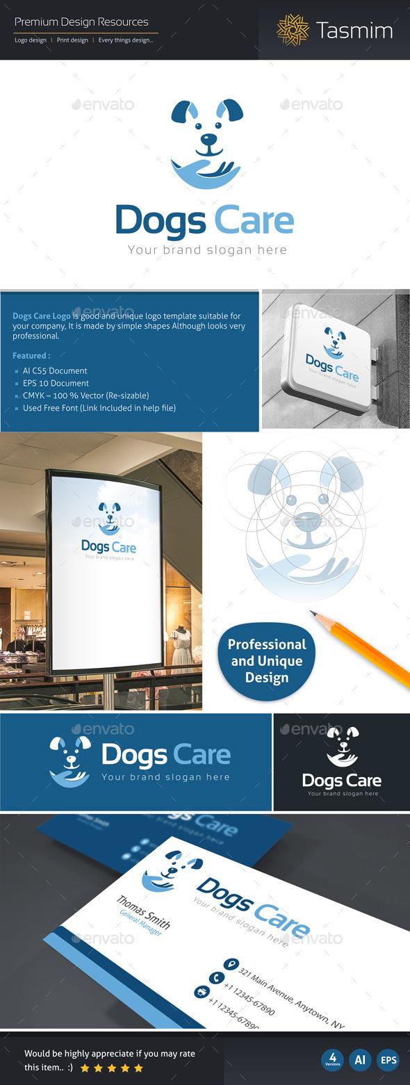 Dogs Care Logo Template - Animals Logo Templates