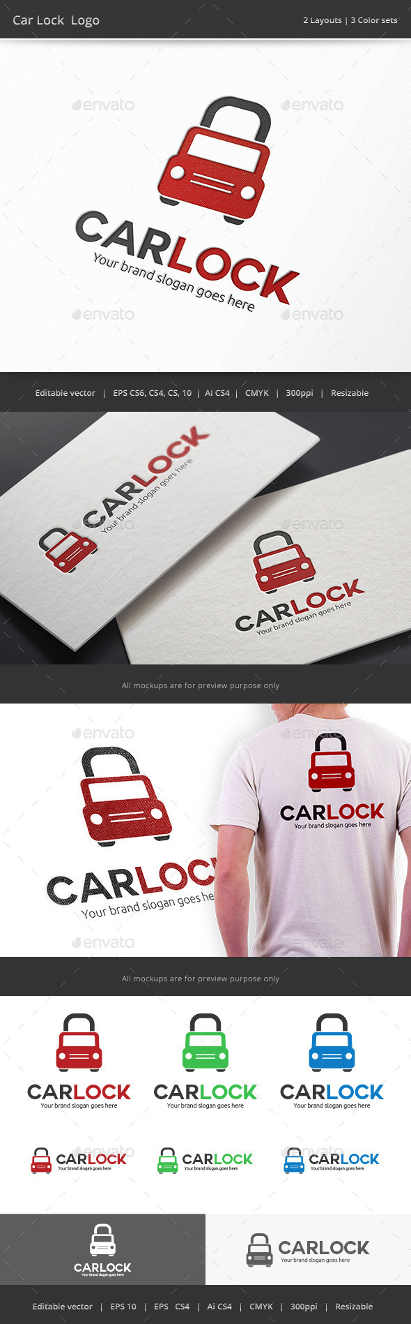 Car Lock Logo - Objects Logo Templates