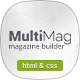 MultiMag - Clean & Flat Magazine HTML Nulled
