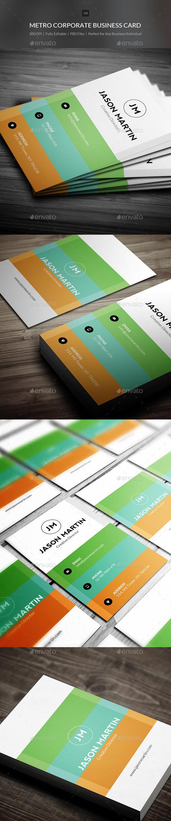 Metro Corporate business Card - 04 - Corporate Business Cards