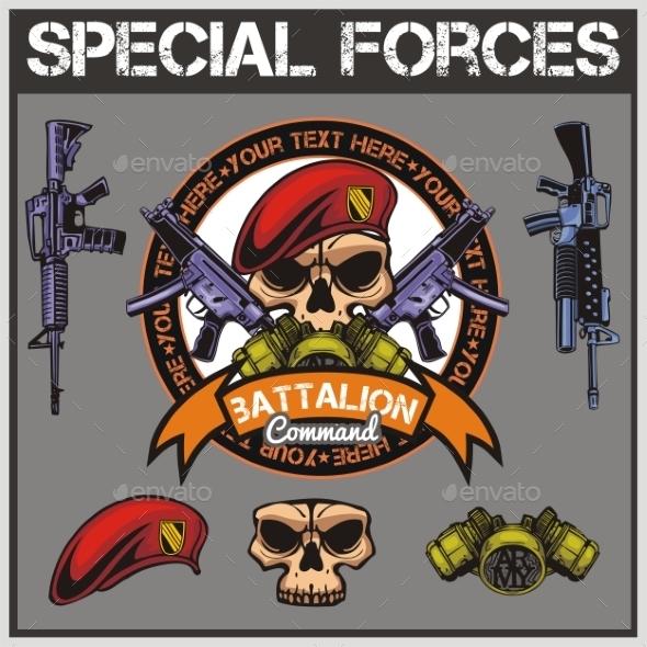 Special Forces Patch Set - Decorative Symbols Decorative