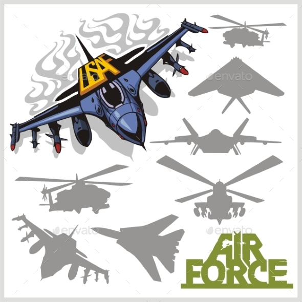 Air force Silhouettes - Miscellaneous Vectors
