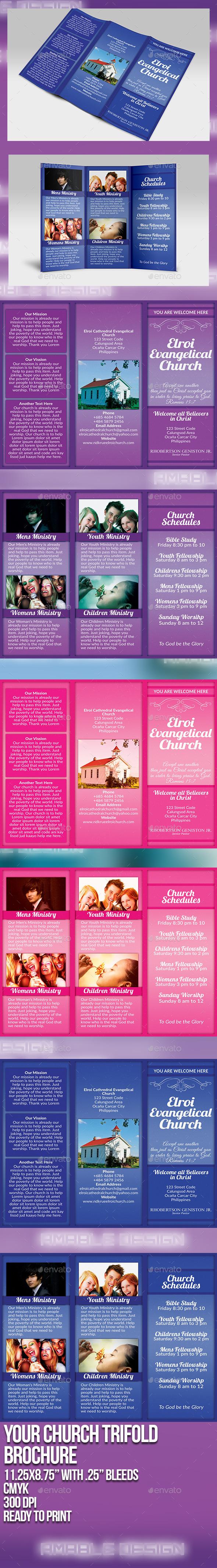 Your Church Tri-Fold Brochure - Brochures Print Templates