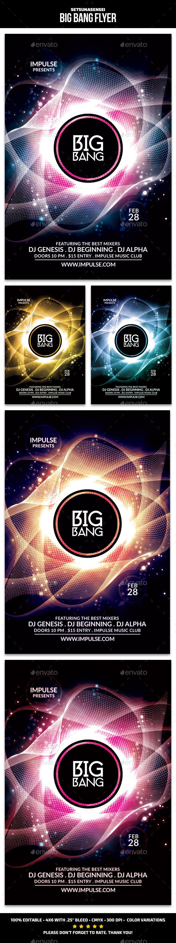 Big Bang Flyer - Clubs & Parties Events