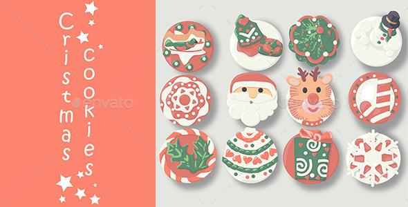 12 Christmas Cookies - Christmas Seasons/Holidays