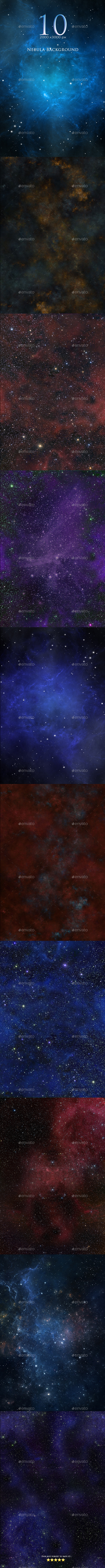 10 Nebula Backgrounds  - Abstract Backgrounds
