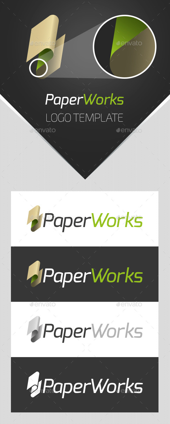 PaperWorks Logo Template - Abstract Logo Templates