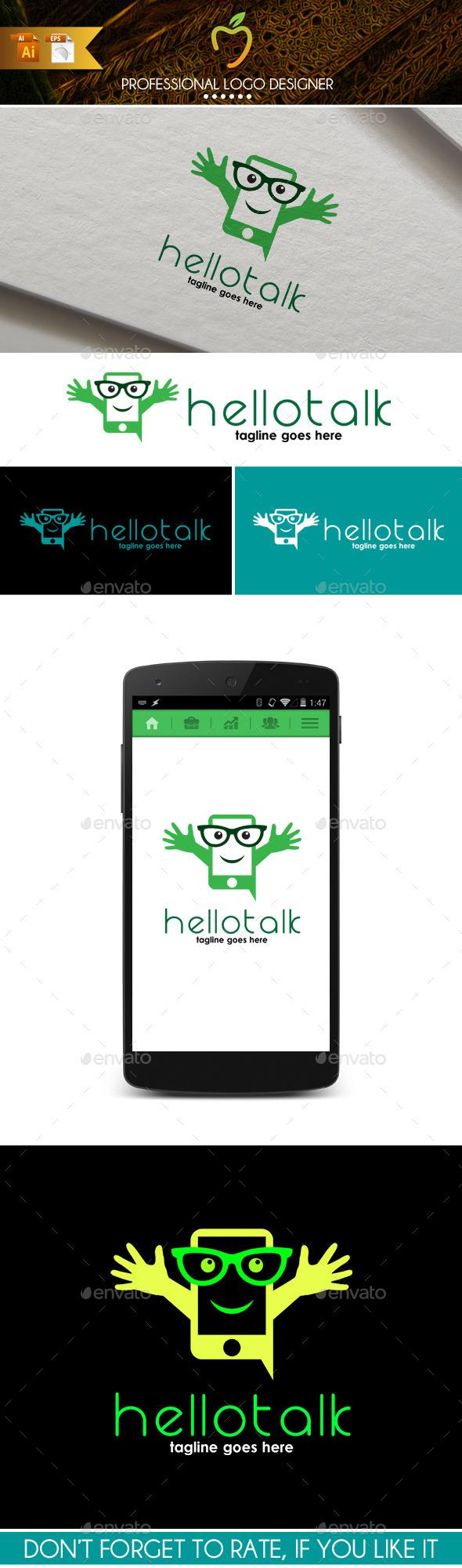 Hello Talk Logo - Objects Logo Templates