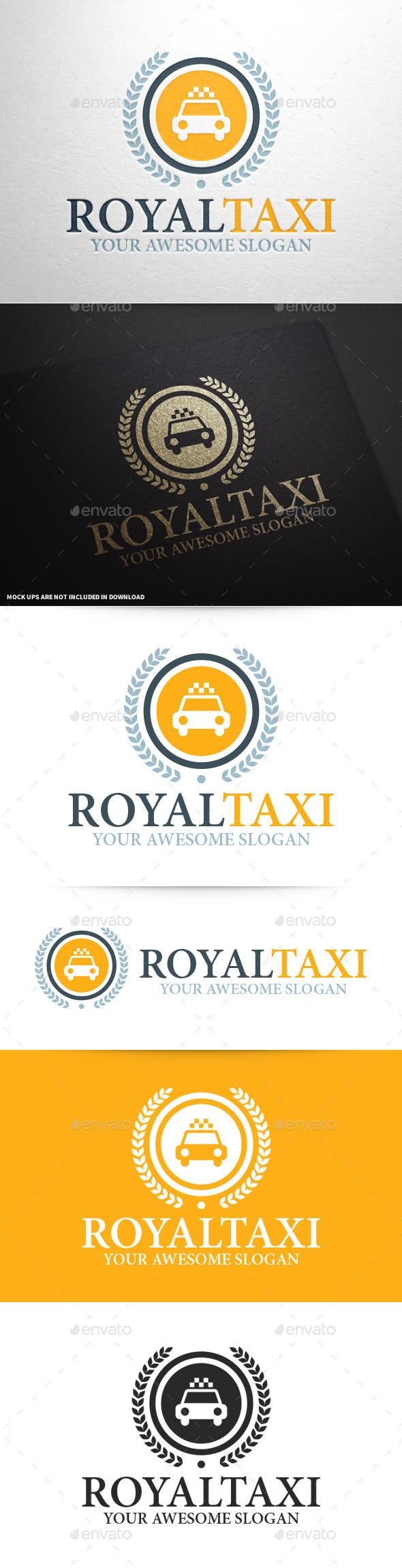 Royal Taxi Logo Template - Crests Logo Templates