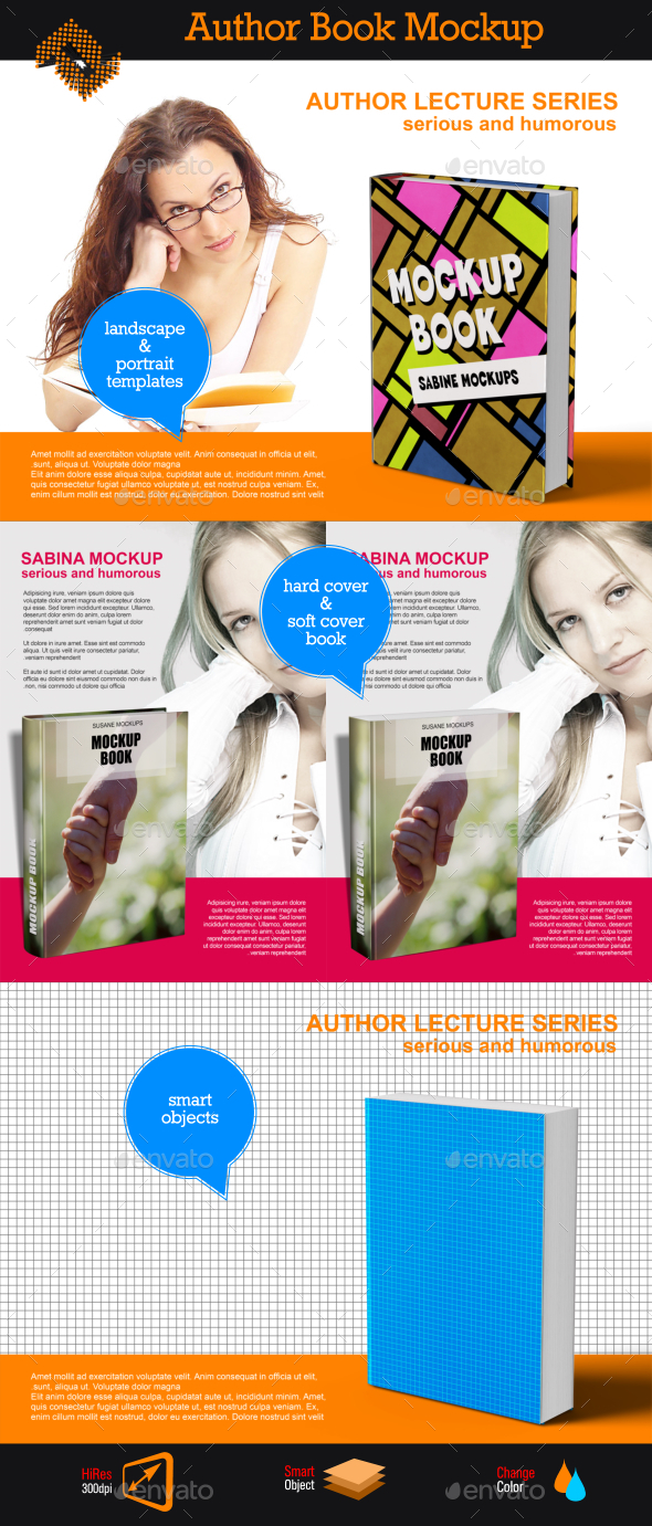 Book Writers Mockup - Print Product Mock-Ups