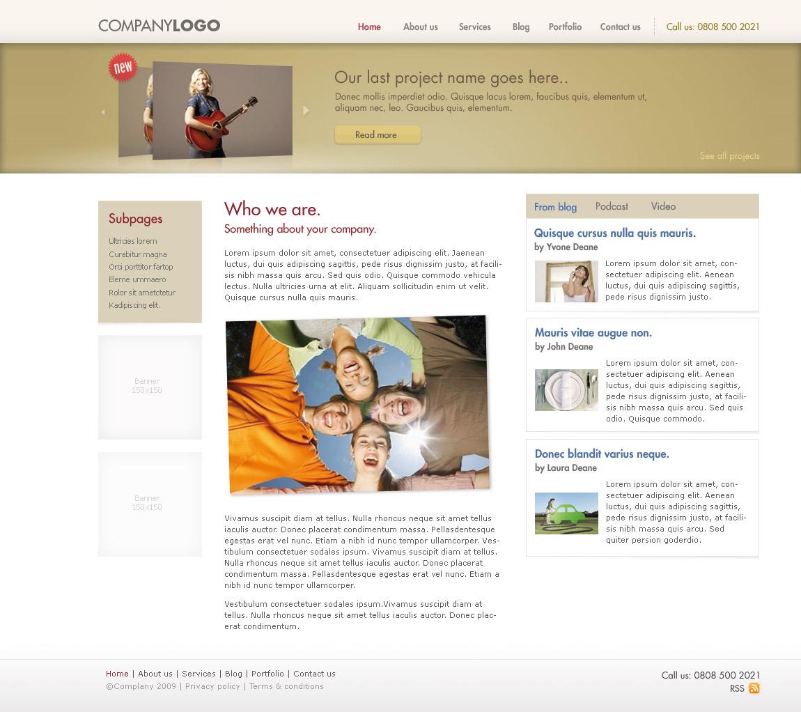 Clean webdite design