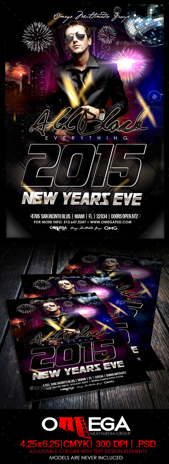All Black 2015 - Events Flyers