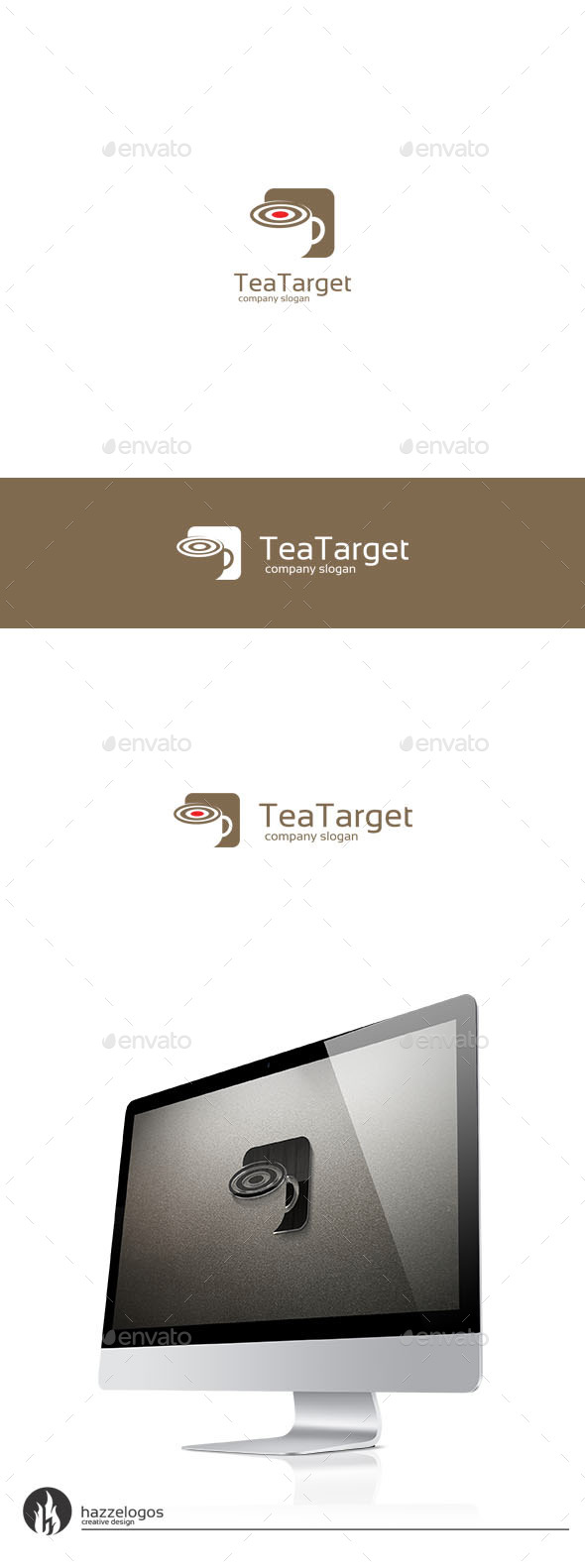 Tea Target Logo - Objects Logo Templates
