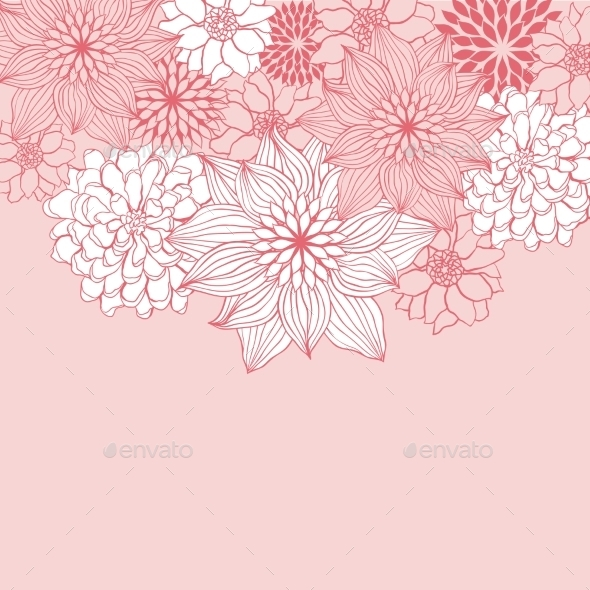 Abstract Floral Background - Flowers & Plants Nature