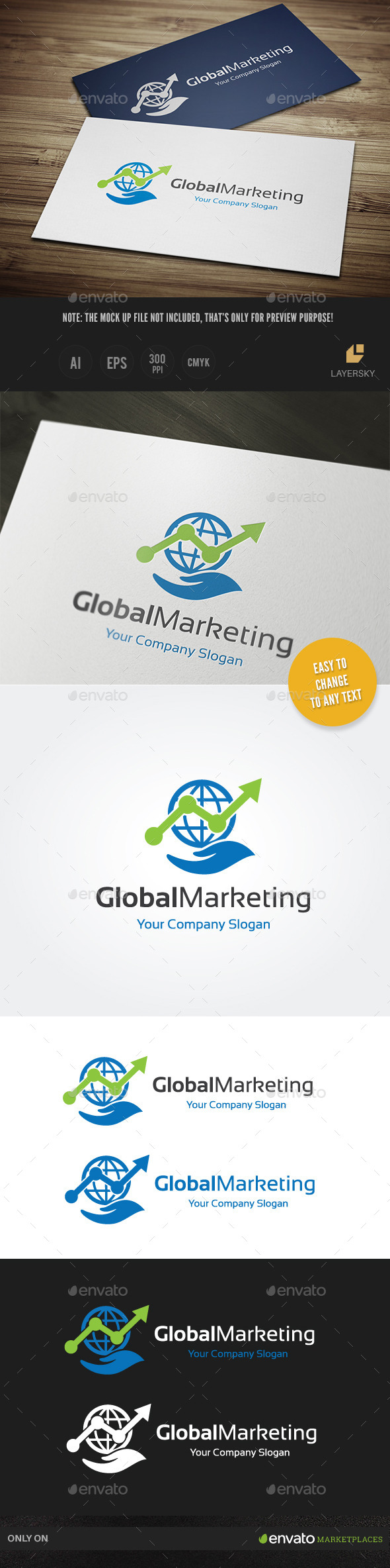 Global Marketing - Objects Logo Templates