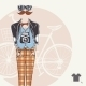 Hipster Background in Retro Style - GraphicRiver Item for Sale