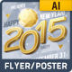 New Year 2015 Party Event Flyer or Poster - GraphicRiver Item for Sale