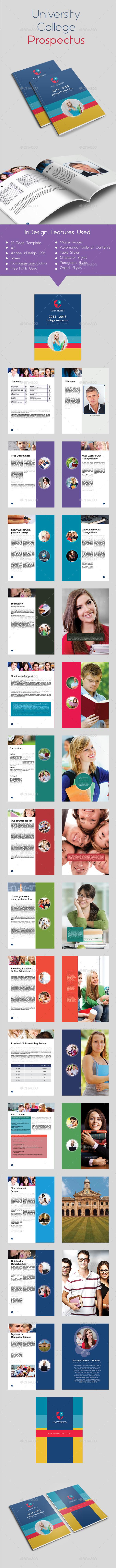 University College Prospectus - Brochures Print Templates