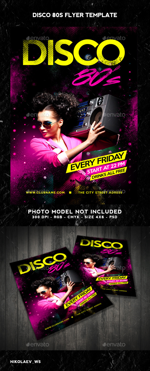 Disco 80s Flyer - Clubs & Parties Events