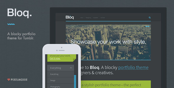 Bloq – A Blocky Portfolio Theme for Tumblr