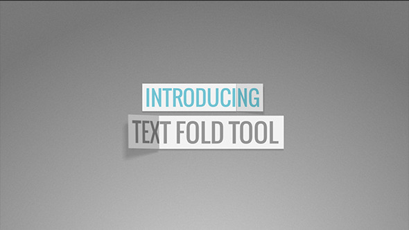text fold tool by madlistudio videohive