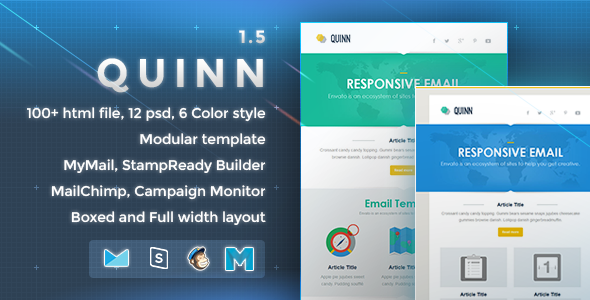 Quinn – Responsive Email Template