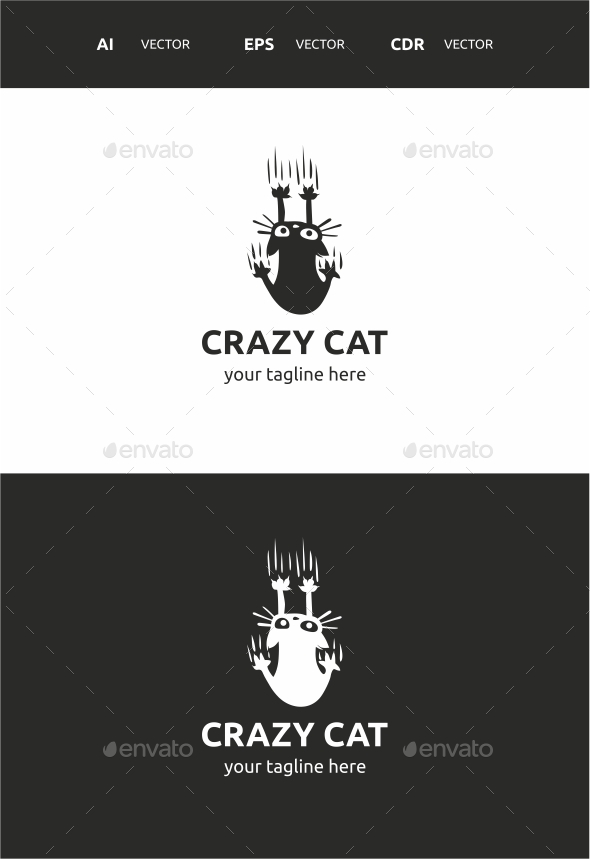 Crazy Cat - Symbols Logo Templates