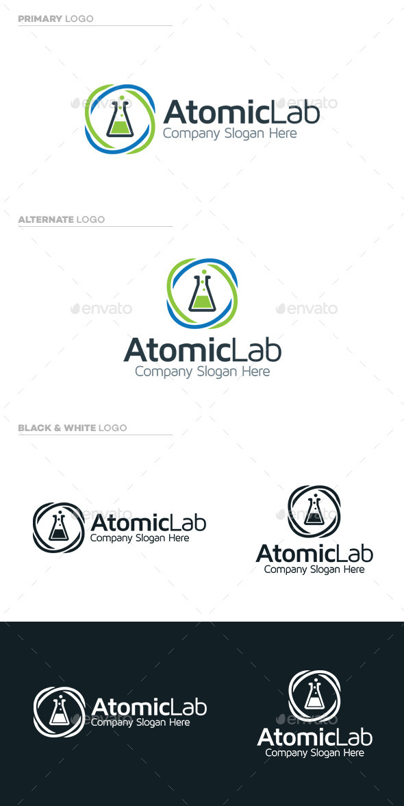 Atomic Lab - Symbols Logo Templates