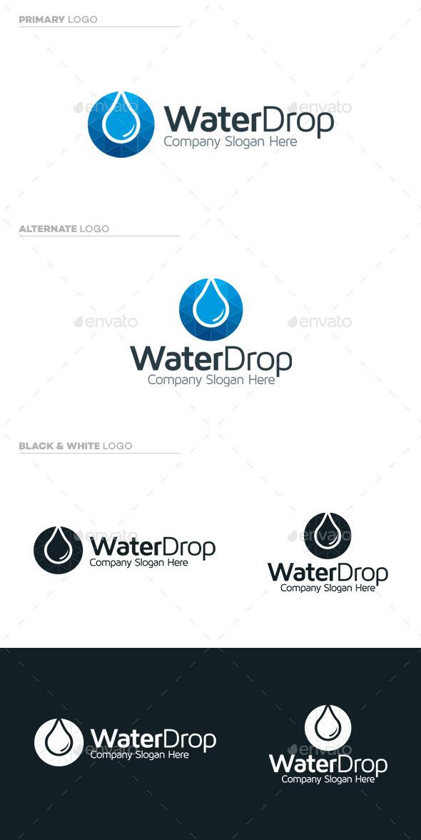 Water Drop Logo - Symbols Logo Templates