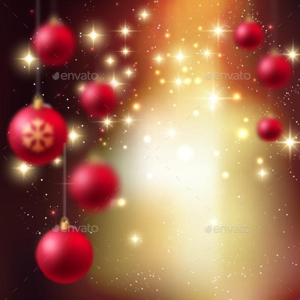 Merry Christmas Bauble Greeting Card - Christmas Seasons/Holidays