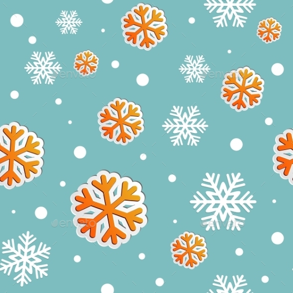 Abstract Christmas Seamless Background with Snow - Christmas Seasons/Holidays