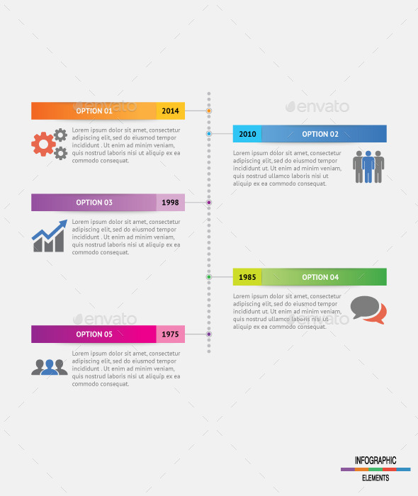 Vertical Dot Timeline Infographic - Infographics