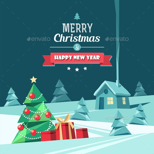 Christmas and New Year Card - Christmas Seasons/Holidays