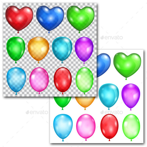 Set of Balloons - Miscellaneous Seasons/Holidays
