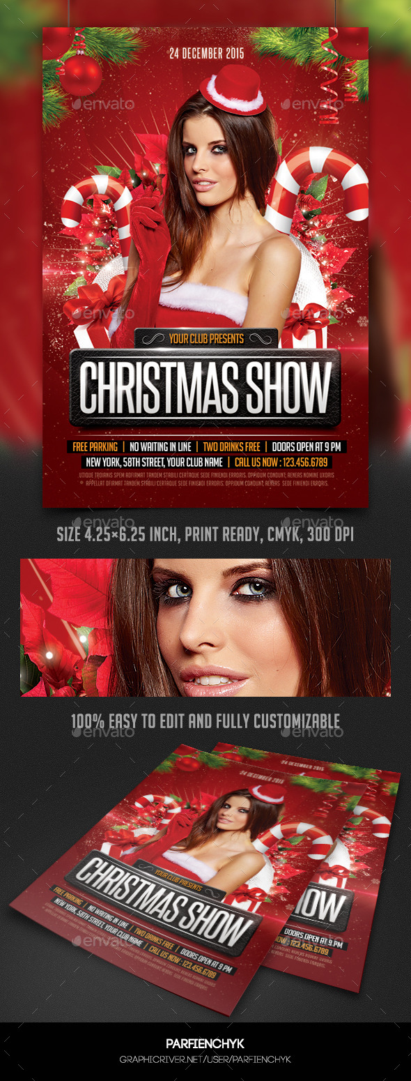 Christmas Show Party Flyer - Clubs & Parties Events