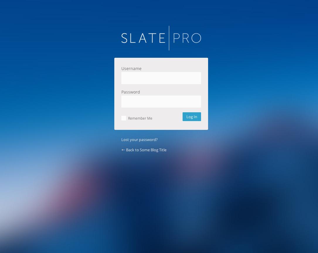 WordPress Admin Theme & White Label - Slate Pro