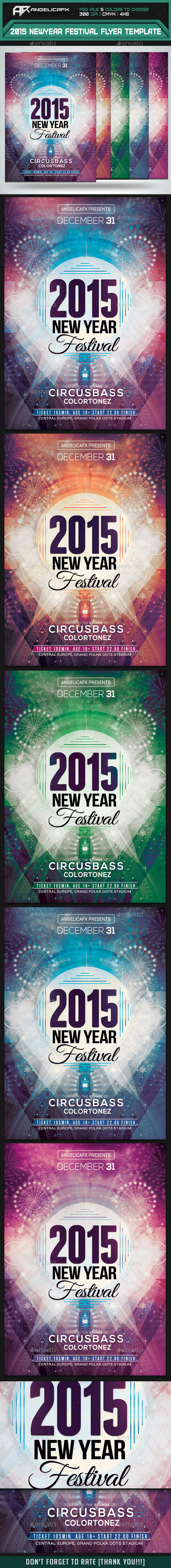 2015 New Year Festival Flyer Template - Events Flyers