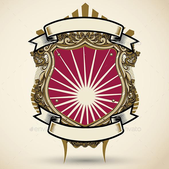 Vintage Shield - Backgrounds Decorative