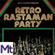 Retro Rastaman Party Flyer - GraphicRiver Item for Sale