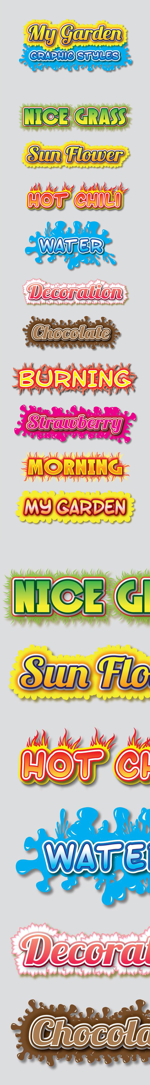 My Garden Graphic Styles for Ai - Styles Illustrator